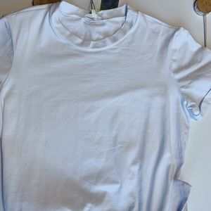 299db87fa White T-shirt with ties on the bottom, ONLY 1 LEFT